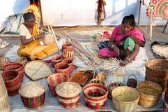 Wicker baskets, Indian handicrafts fair at Kolkata Royalty Free Stock Images