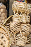 Wicker baskets. A pile of hand made wicker baskets Stock Image