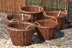 Wicker Baskets Royalty Free Stock Photos