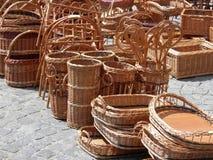 Wicker baskets Stock Photos