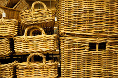 Wicker baskets Royalty Free Stock Images