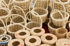 Wicker Baskets - Stock Image Stock Photo