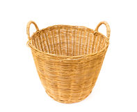 Wicker baskets on white background Stock Image