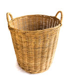 Wicker baskets on white background Royalty Free Stock Photo