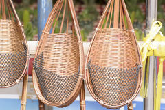 Wicker or basketwork for tree planting. This picture is wicker or basketwork for tree planting that made from bamboo.  It is art and very beautiful Stock Images