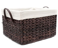 Wicker bathroom basket Stock Photography