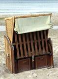 Wicker beach chair Royalty Free Stock Photo