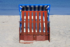Wicker beach chairs Royalty Free Stock Photo