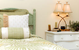 Wicker bedroom Royalty Free Stock Images