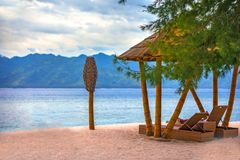 Gili Trawangan island, Lombok, Indonesia. royalty free stock images