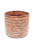 Wicker big basket. On a white background isolated Royalty Free Stock Images