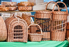 Wicker birdcages. Royalty Free Stock Photography