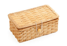 Wicker Box Stock Photo