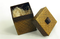 Wicker box. Small box stock photography