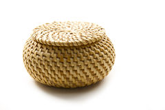 Wicker box Stock Image