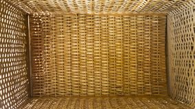 Wicker box basket view from above royalty free stock photography