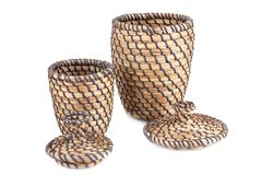 Wicker Boxes Stock Photography