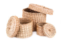 Wicker boxes Royalty Free Stock Images