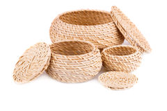 Wicker boxes Royalty Free Stock Photography