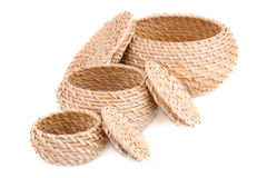 Wicker boxes Royalty Free Stock Image