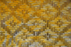 Wicker braided bamboo wall texture Royalty Free Stock Photos