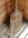 Wicker broomstick Royalty Free Stock Images