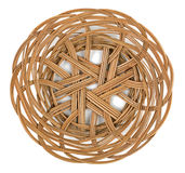 Wicker brown basket of bread or fruit Stock Images