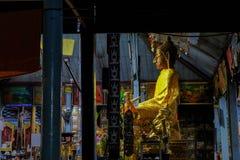 Wicker Buddha inside the main viharn of Wat Chong Klang, Beautiful temples .Mae Hong Son. Thailand royalty free stock image