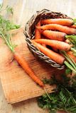 Wicker with carrots Royalty Free Stock Photography