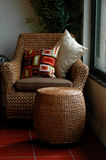Wicker chair Royalty Free Stock Photos