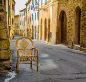 The wicker chair Stock Photography