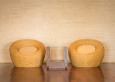 Wicker chair decorative luxury modern Stock Photo
