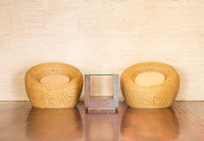 Wicker chair decorative luxury modern Royalty Free Stock Photography