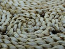 Wicker chair detail. Strukture of a wicker chair Royalty Free Stock Photos