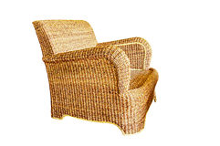 Wicker chair isolated Royalty Free Stock Photography