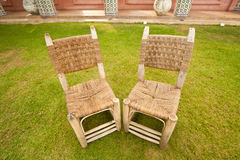 Wicker Chair in terrace Royalty Free Stock Photos