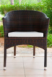 Wicker chair on terrace Stock Photography