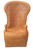 Wicker chair on white Royalty Free Stock Images