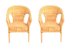 Wicker chairs Royalty Free Stock Photography