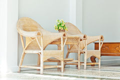Wicker chairs Royalty Free Stock Photo