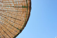 Wicker chairs. And can be used in areas such as the seaside resort umbrellas and sky Royalty Free Stock Image