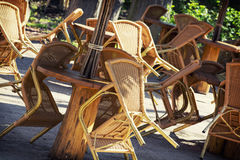 Wicker chairs Royalty Free Stock Images