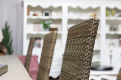 Wicker chairs in room Royalty Free Stock Image