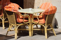 Wicker chairs and table Royalty Free Stock Photos