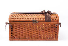 Wicker chest Royalty Free Stock Photo