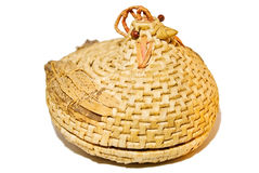 Wicker Chicken Basket Stock Photo