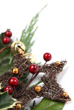 Wicker Christmas star Royalty Free Stock Photos