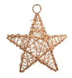 Wicker Christmas Star Royalty Free Stock Photos