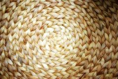 Wicker circle pattern bamboo and rattan texture Royalty Free Stock Image