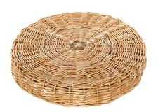 Wicker circle table Royalty Free Stock Photography